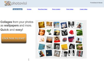 Create a Wallpaper from your photos using Photovisi