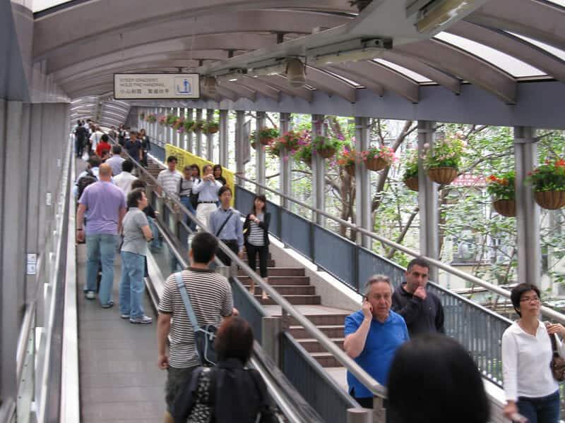 Hong Kong Central Mid Levels Escalators 中環至半山自動扶梯