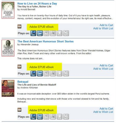 ePub Books Appearing in National Library Ebook Library