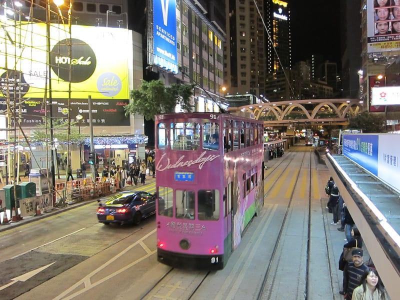 Night Shots from Hong Kong Tram Ride