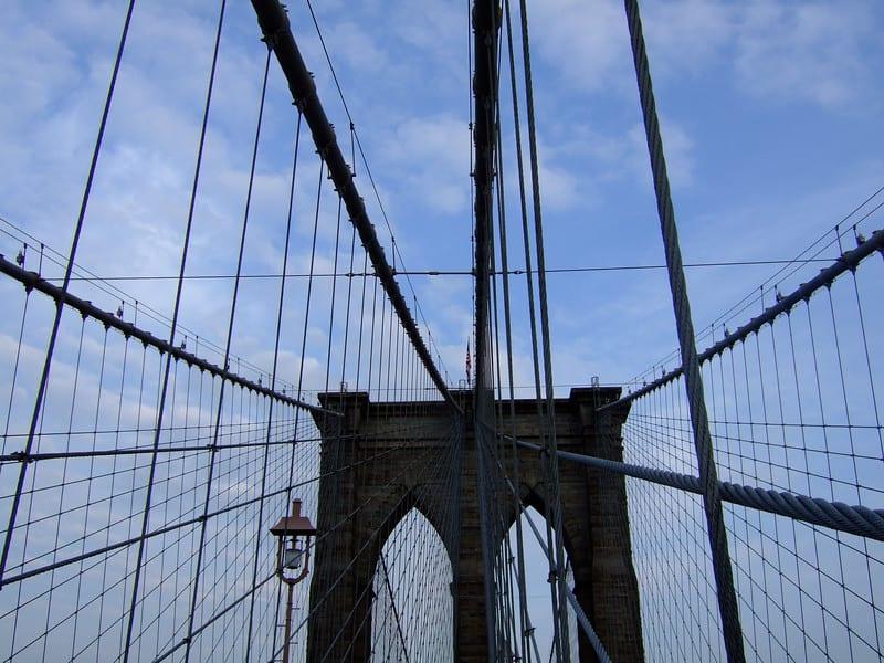 Walking the Brooklyn Bridge in New York City