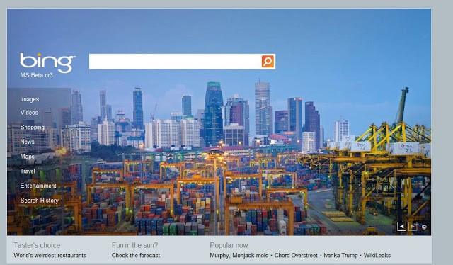 Singapore Port Skyline on Bing