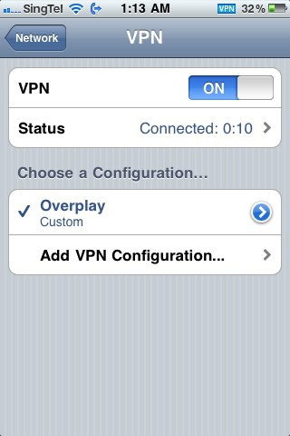 Using VPN in iPhone (and Windows and Mac)