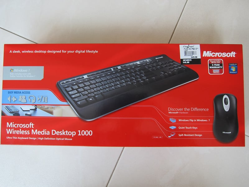 Microsoft Wireless Media Desktop 1000