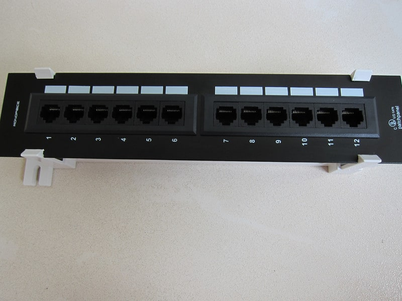 Monoprice Mini Patch Panel Cat6 110 Type 12 Ports