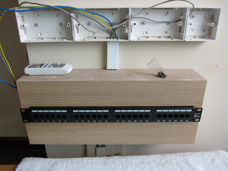 Small patch panels network boxes