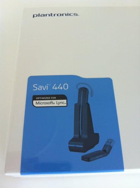 Plantronics Savi W440A-M Microsoft Lync Headset Unboxing