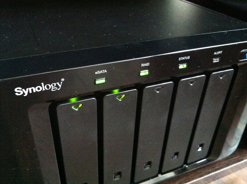 Setting up Synology DX510