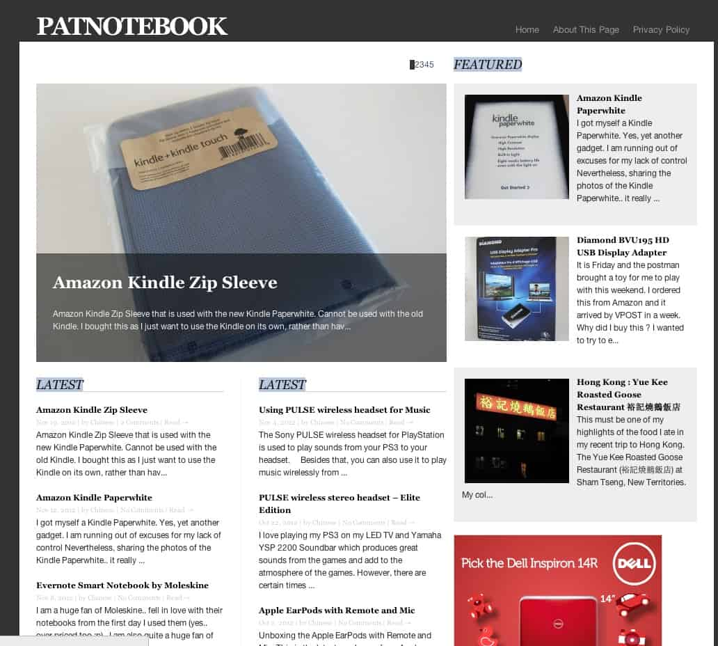 Patnotebook Wordpress