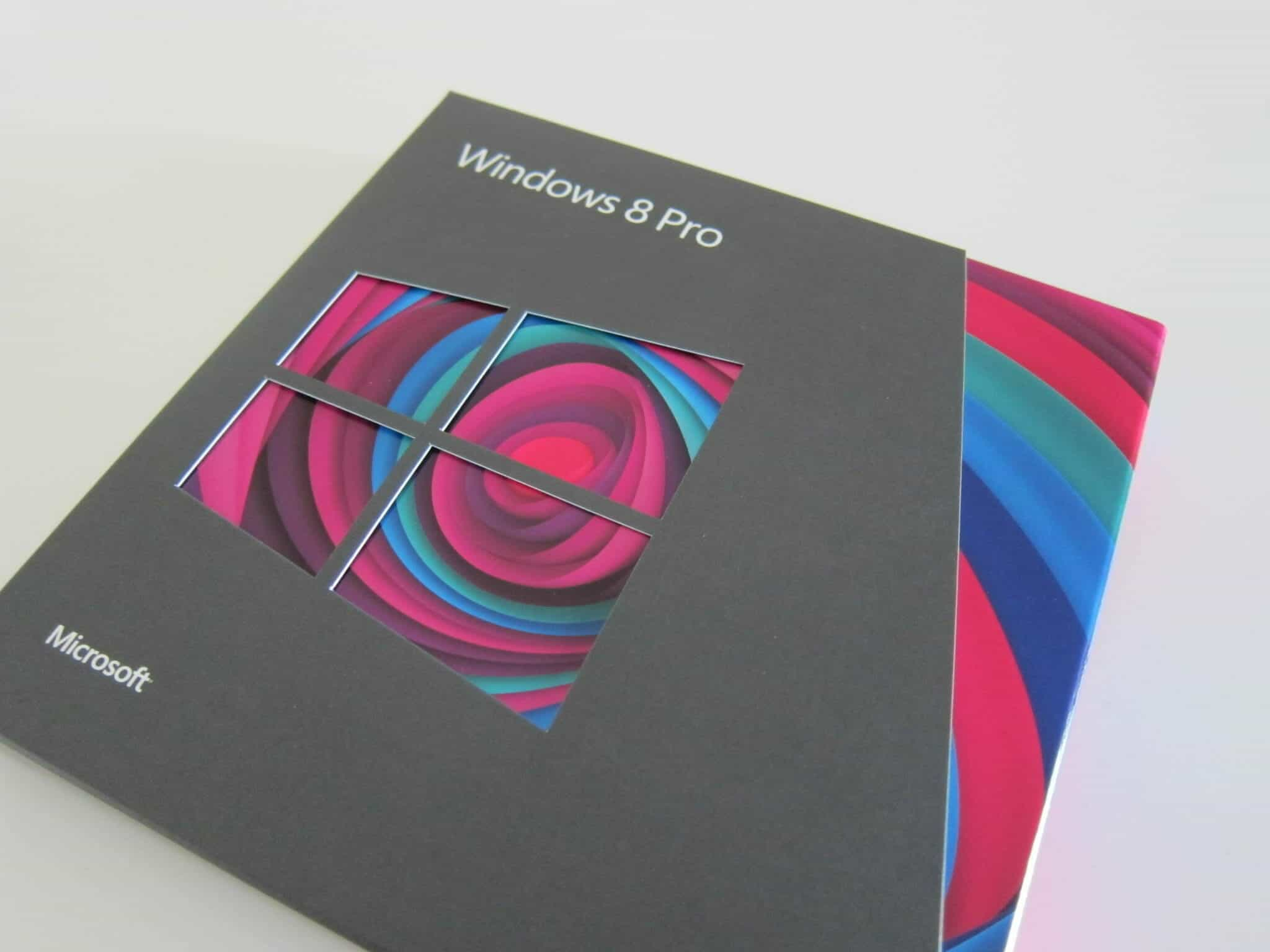 Windows 8 Pro Packaging