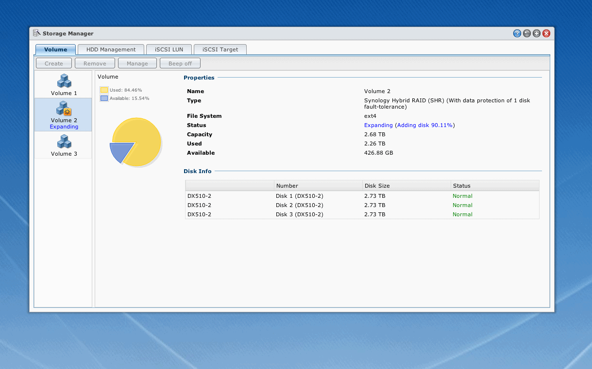 Adding a new disk as a new volume in Synology - Patnotebook