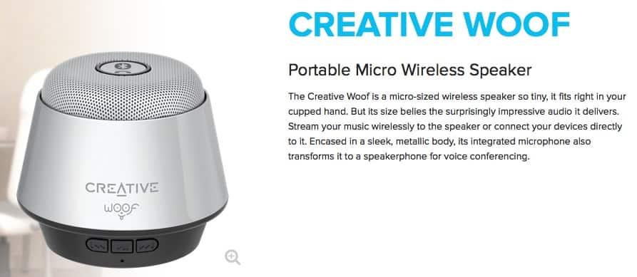Creative Woof Speakers