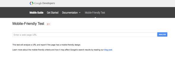 Google Mobile Friendly Site