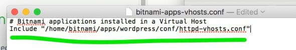 Make changes to the file bitnami-apps-vhosts.conf