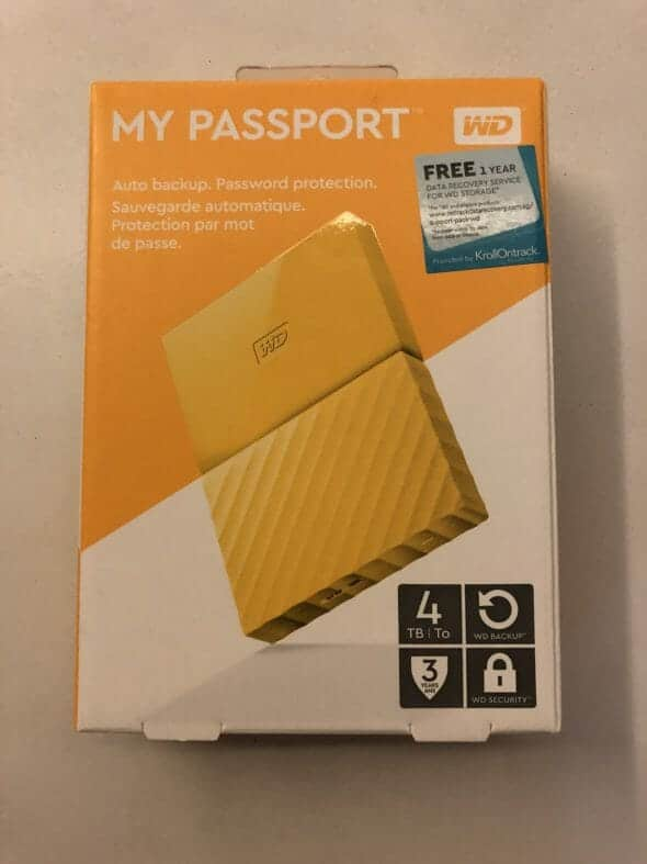 WD My Passport 4TB Portable Hard Disk