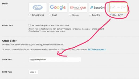 WP Mail SMTP Setting 2