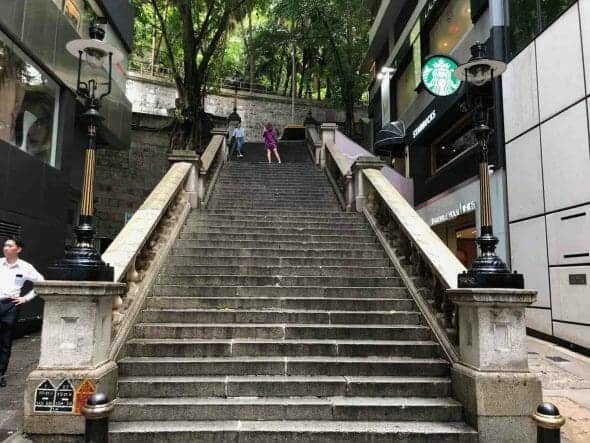 TVB Location Duddell Street Steps and Gas Lamps 都爹利街石階及煤氣燈