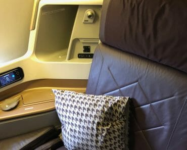 Singapore Airlines Business Class 2013 Version