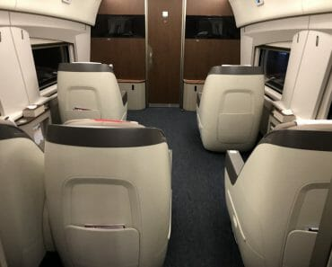 Business Class in China High Speed Train