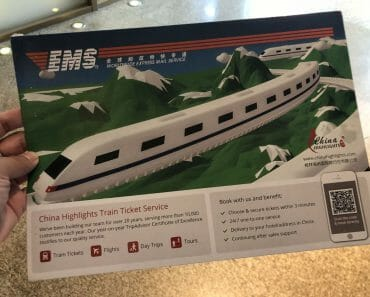 Buying High Speed train tickets from Shanghai to Beijing