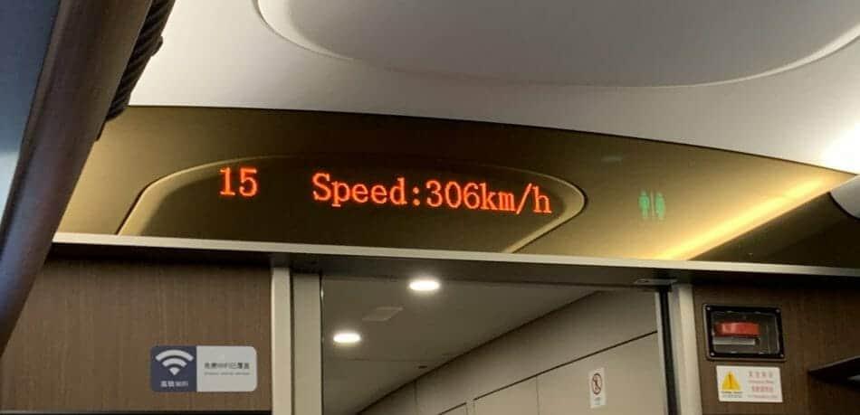 306kmh on the train