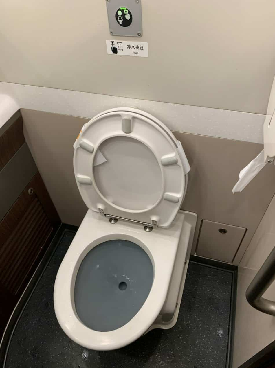 Toilet in the high speed train