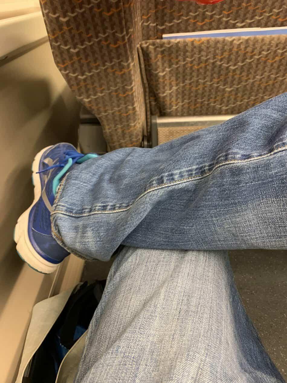 Crossing my legs