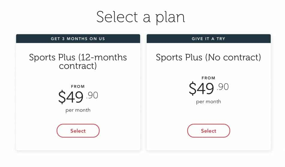 Two methods of signing up for SingTel Sports Plus