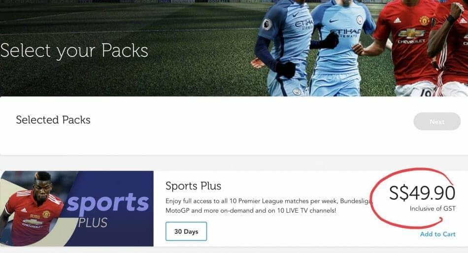 SingTel Sports Plus