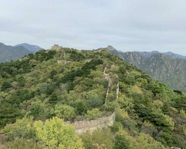 Unrestored Part of Great Wall of China Mutianyu