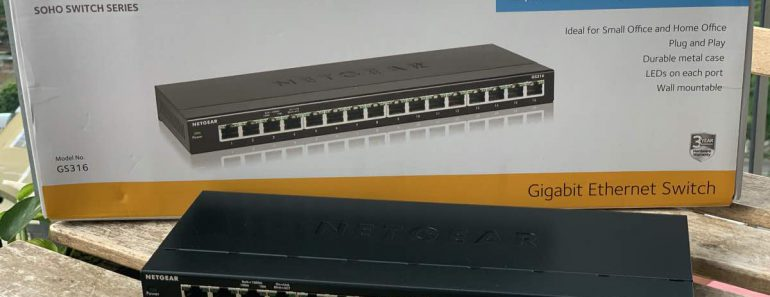 NETGEAR GS316 16-Port Gigabit Ethernet
