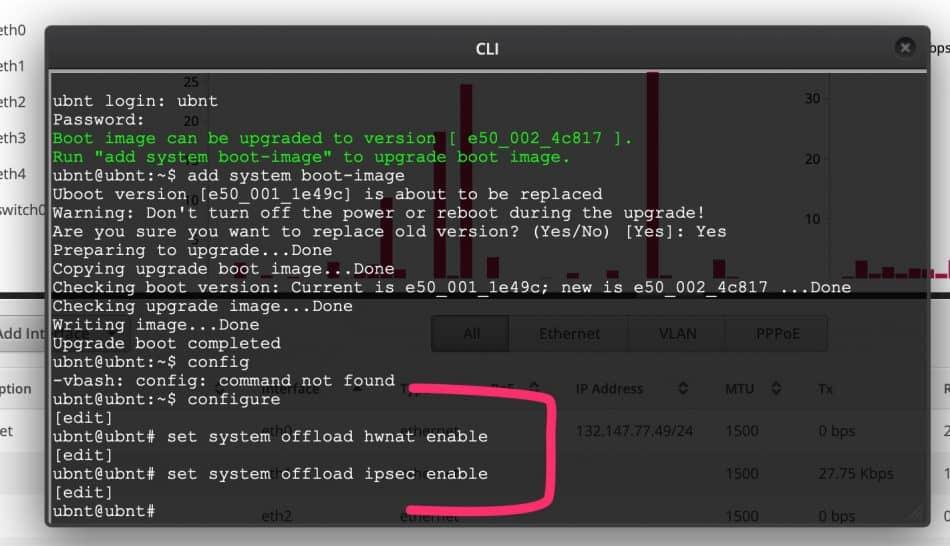 EdgeRouter X Hardware offloading