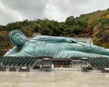 Nanzoin Temple Fukuoka. Amazing Reclining Buddha.
